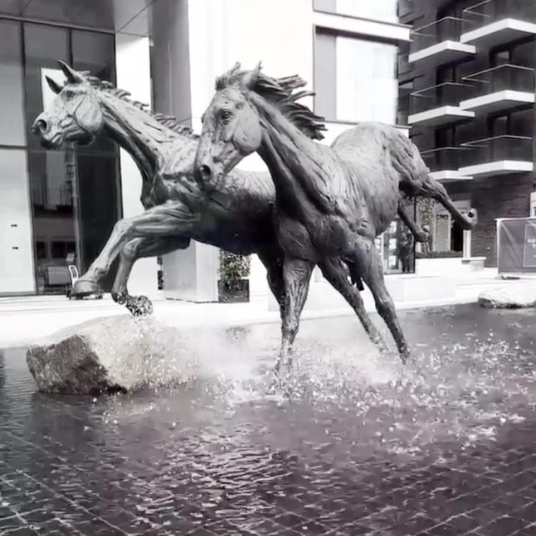 Garden Decorative Large Real Size Bronze Horse Sculpture