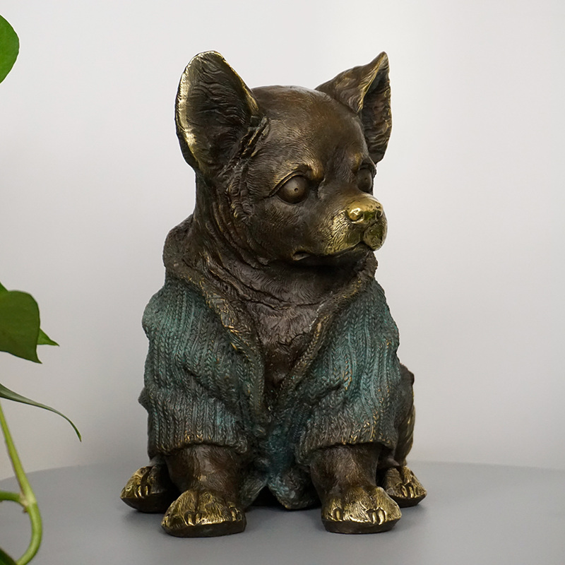 Bronze Decor Garden Sculpture Bronze Dog