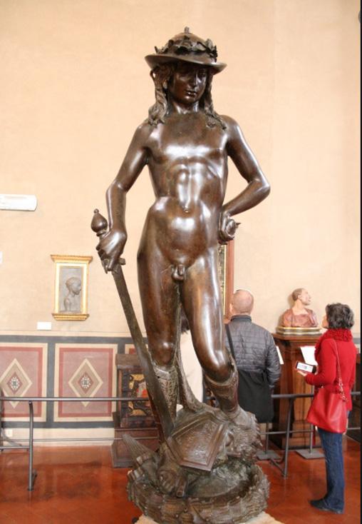 One famous cast bronze statue during Renaissance