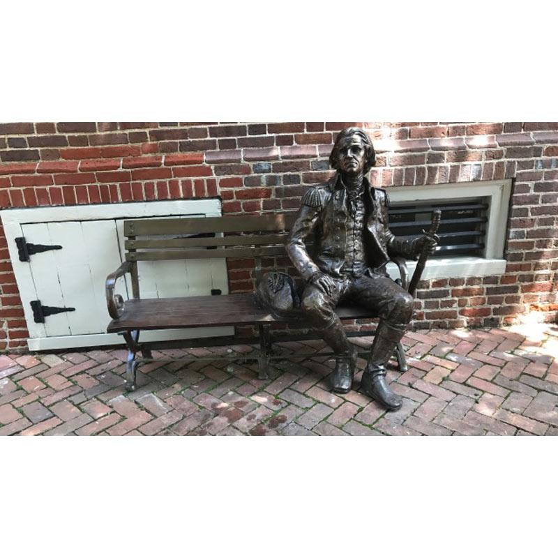 A custom bronze sculpture