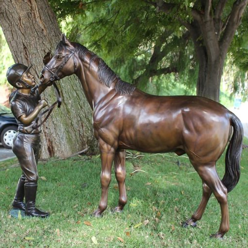 Life Size Bronze Running Horse Statue Wings Sculpture For Sale