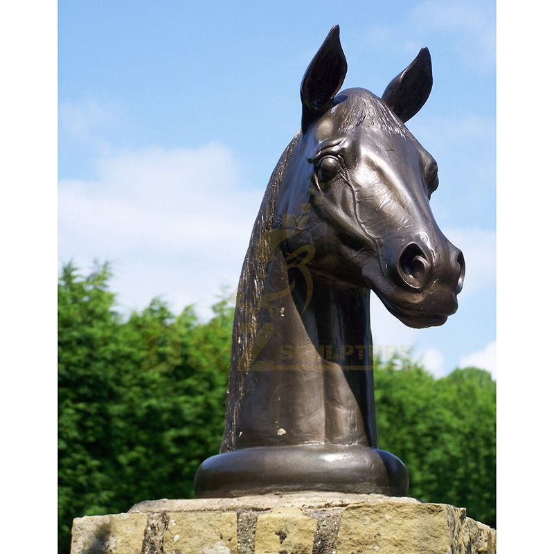 Garden Decoration Art Bronze Horse Head Sculpture