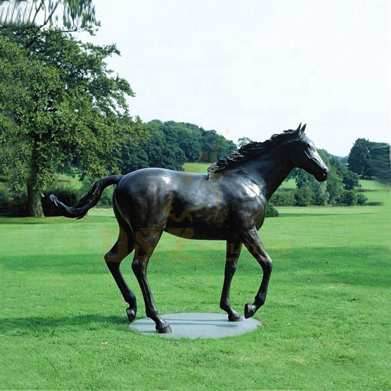 Outdoor Life Size Bronze Horse Sculpture