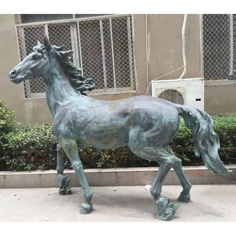 Hot Selling Garden Decoration Bronze Life Size Horse Sculpture