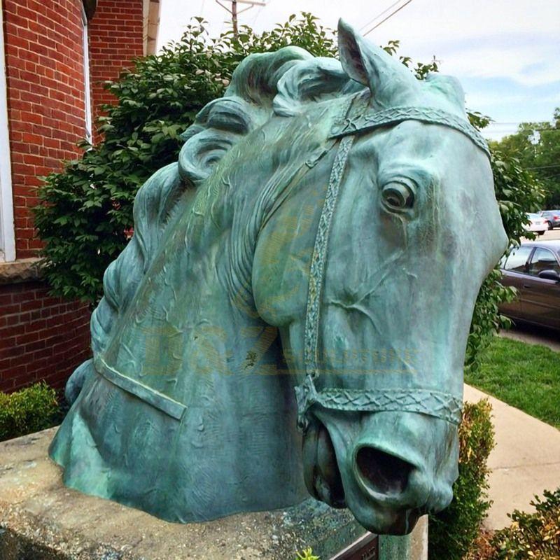 Life Size Garden Decoration Bronze Horse Head  Sculpture