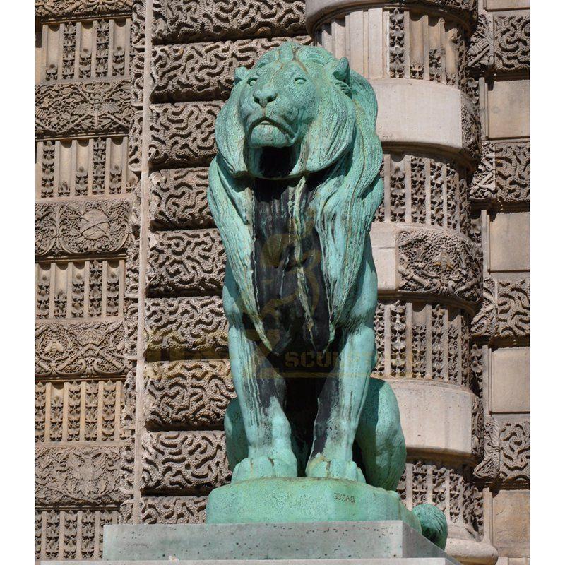 China manufacturer Garden Decoration Metal Sculpture Large Bronze Lions Statue