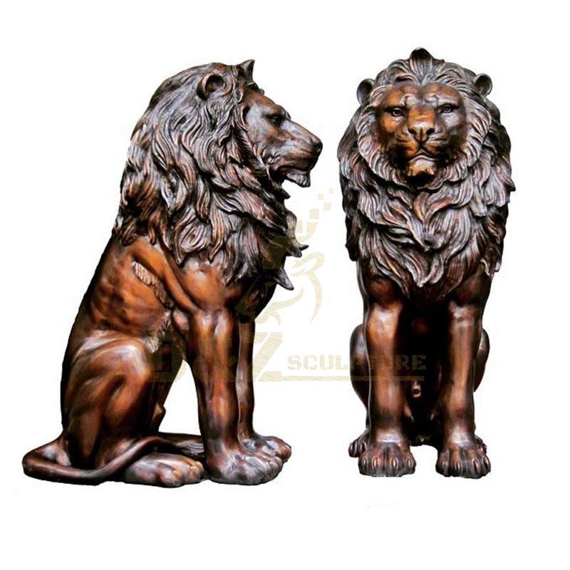 Famous Outdoor Bronze Lion Statues For Sale Brass Statue