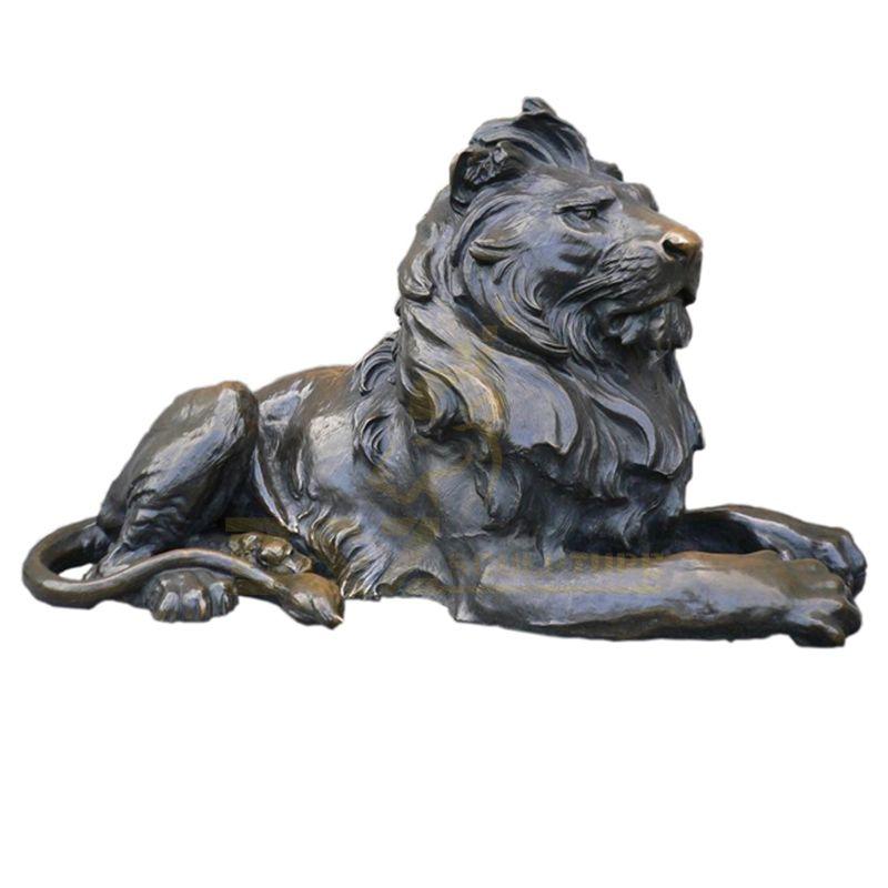 Bronze Life Size Lion Statue Stock Model Lion Sculpture