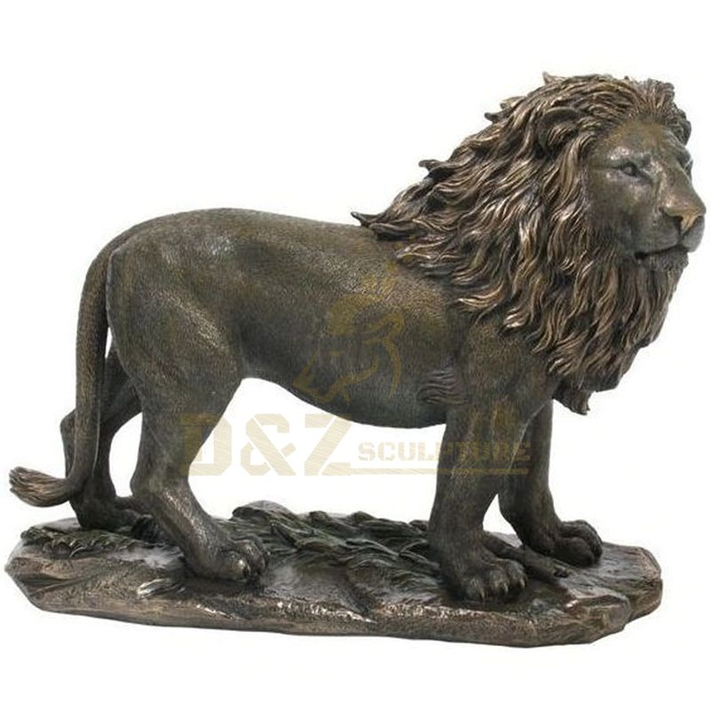 Western Style Copper Bronze Lion Sculpture Statue For Garden decoration