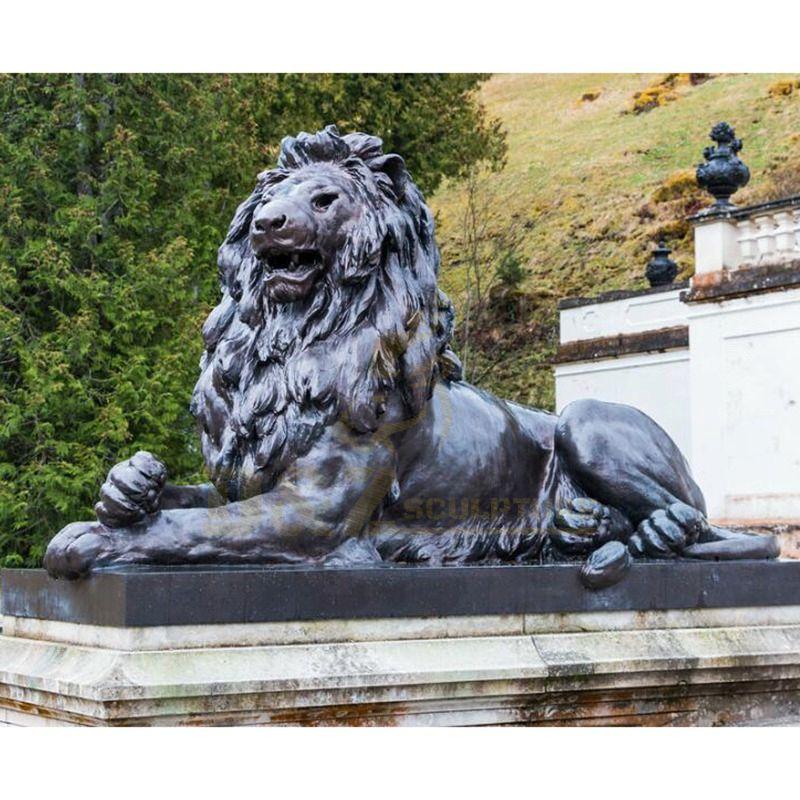 Outdoor Decoration Animal Antique Bronze Lion Sculpture