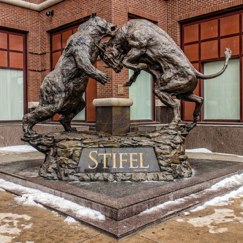 Bull And Bear Bronze Articles Statue Sculpture For Sale