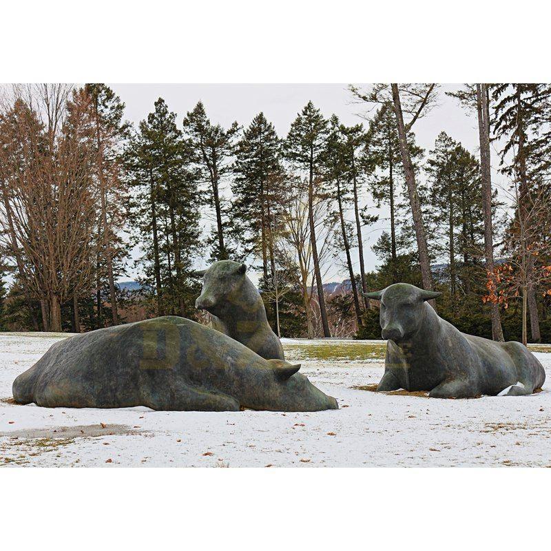 Decorative Bronze Bull Cattle Statue Sculpture For Sale