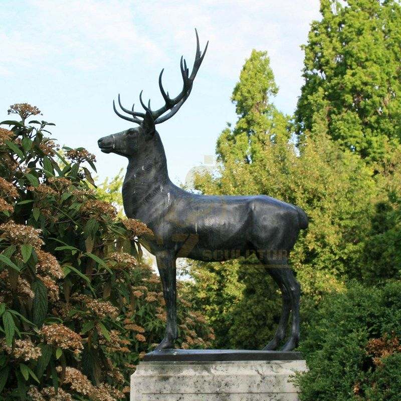 Life Size Decoration Bronze Animal Elk Deer Sculpture