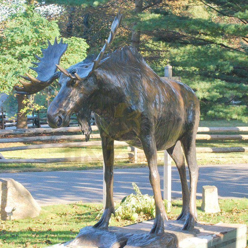 Deer Wild Bronze Animal Elk Sculpture For Sale
