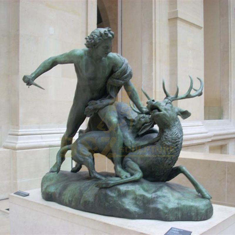 Antique Bronze Caribou Sculpture