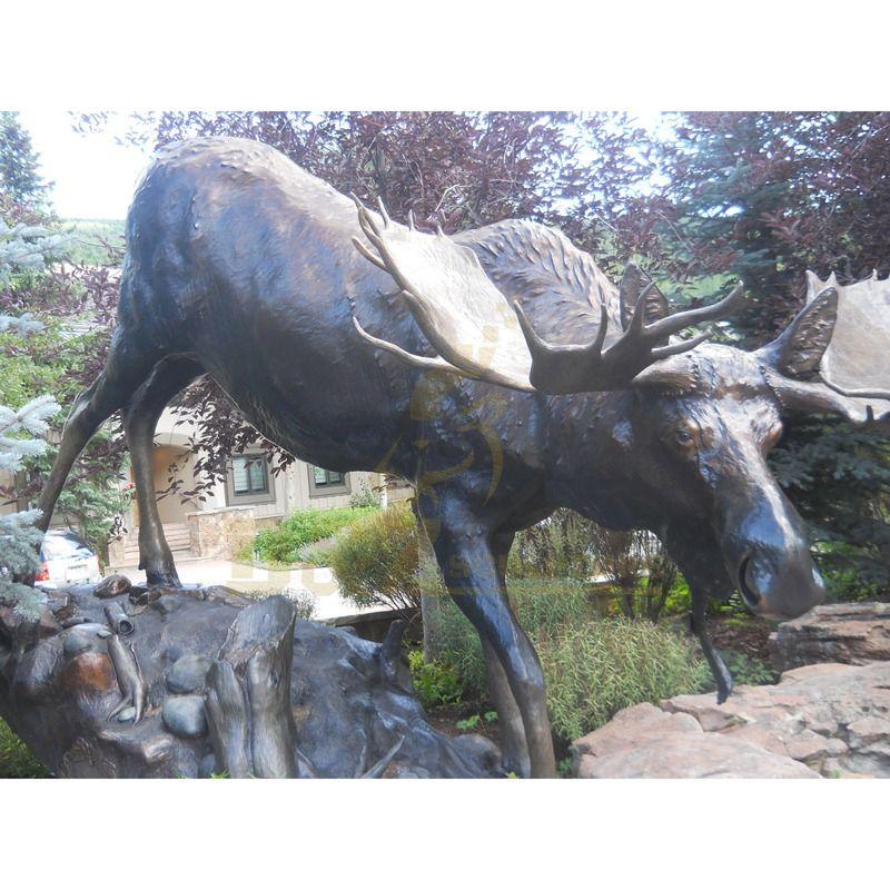 Best Selling Decorate Bronze Deer Elk Statue