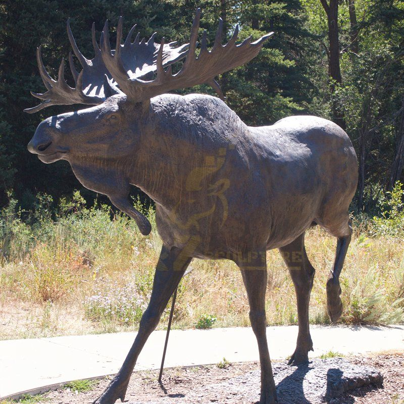 Factory Direct Production Cast Garden Bronze Animal Deer Sculpture