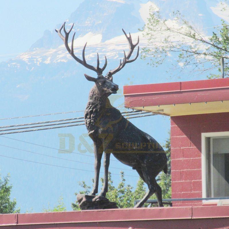 Garden Decoration Processing Customized Bronze Deer Sculpture
