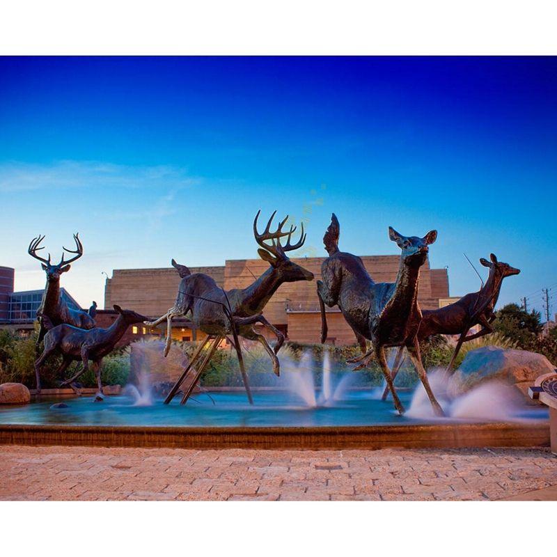 Life Size Modern Decorative Garden Bronze Deer Sculpture