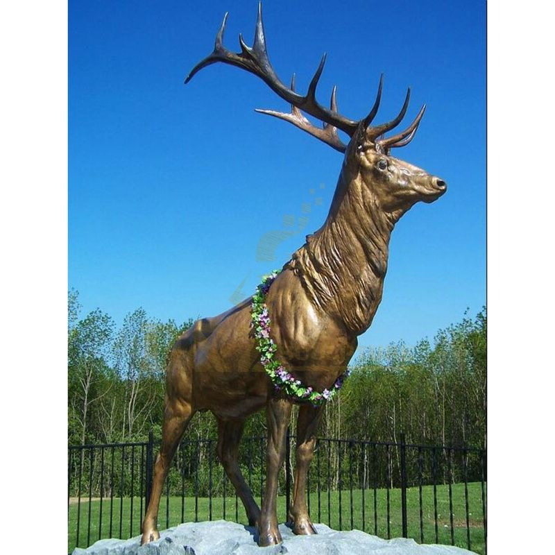 Park Decoration Manufacturer Of Custom Elk Sculpture