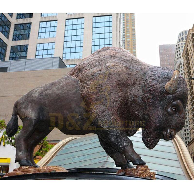 Animal Sculpture Garden Bronze Bull Statue