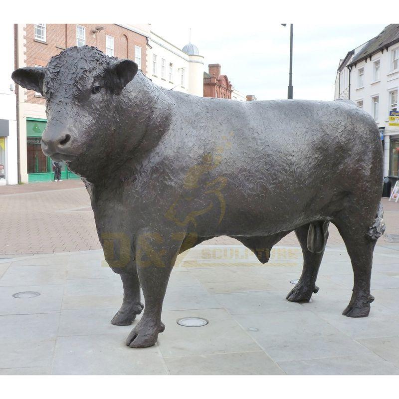 Animal Bull Statue Garden Decoration Bronze Cow Sculpture