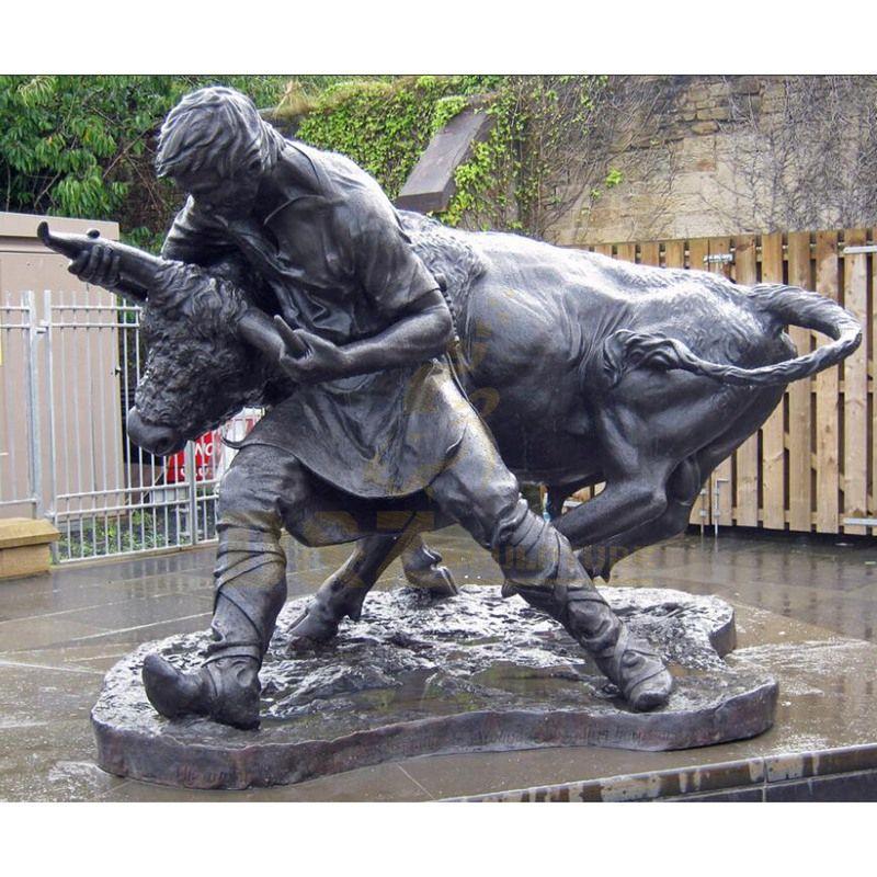 New Design Brass Statue Outdoor Animal Garden Bull Sculpture