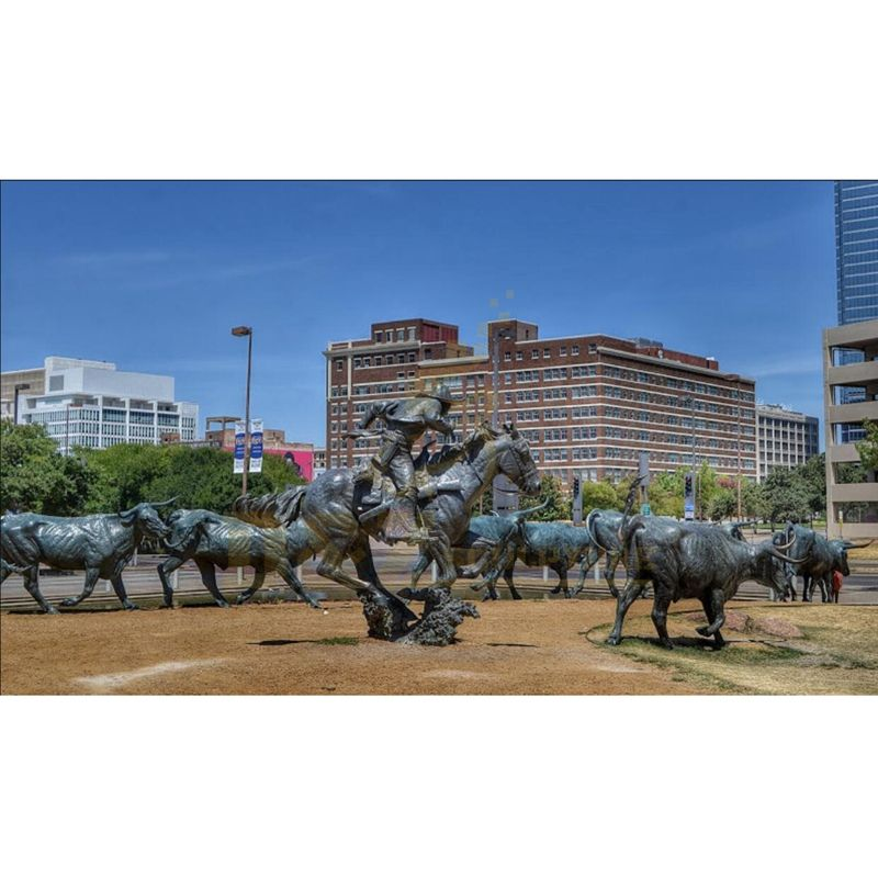 Outdoor Decoration Bronze Bulls Sculpture