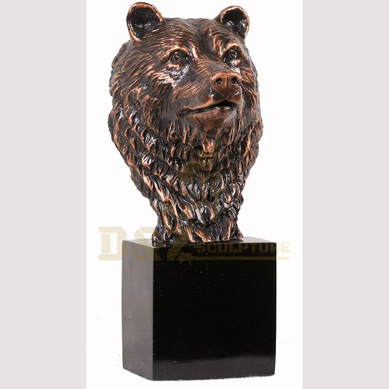 New Design Bronze Bear Head Sculpture For Sale
