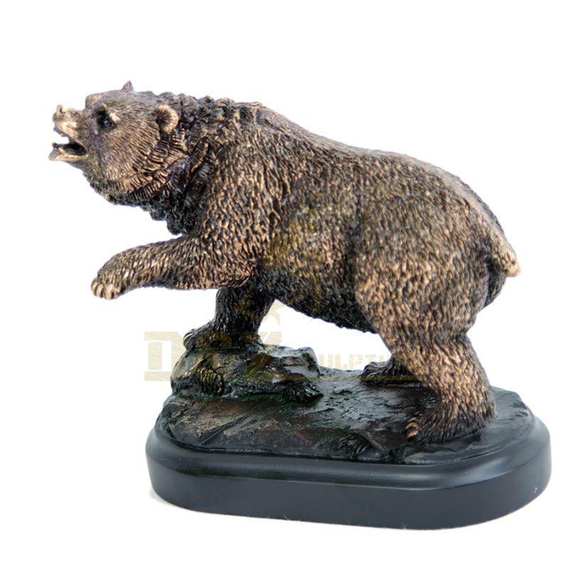 Ornaments Metal Art Animal Bear Sculpture Bronze