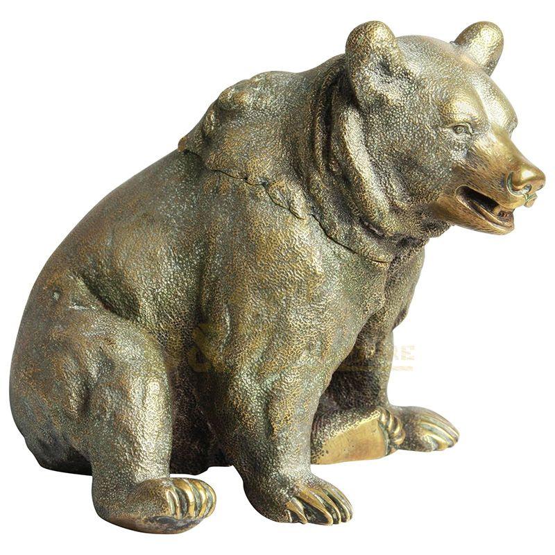 Custom Made Outdoor Bronze Bear Sculpture Animal Statue