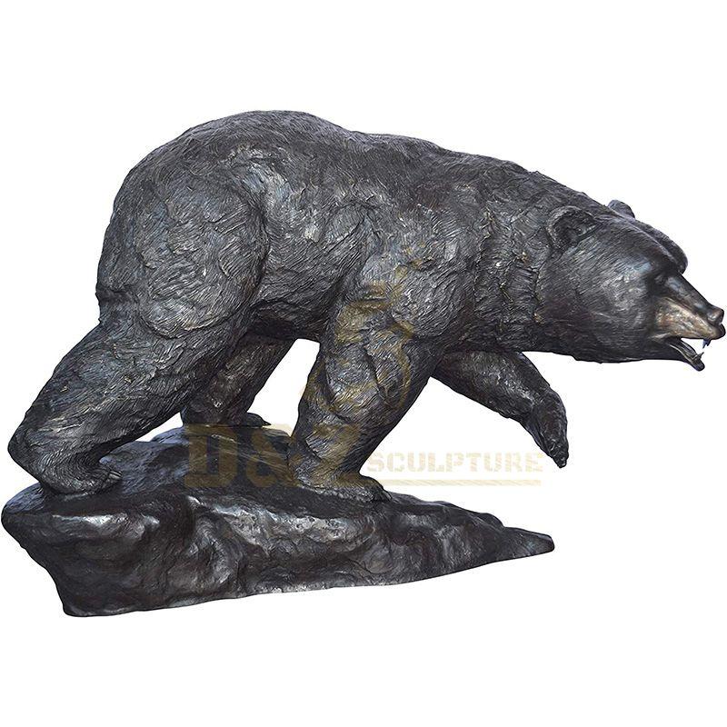 Custom Made Bronze Animal Bear Sculptures For Home Decoration