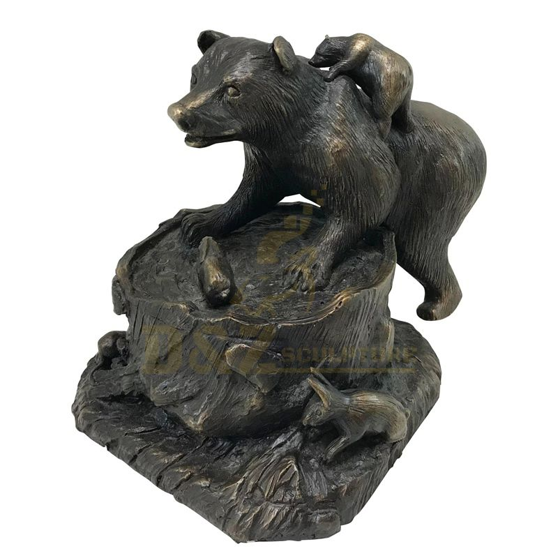 Garden Decoration Custom Animal Sculpture Bronze Outdoor Bear Family Sculpture