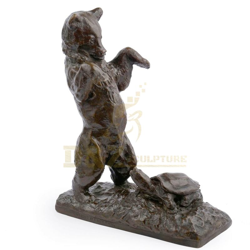 Garden Decoration Custom Animal Bronze Bear Sculpture