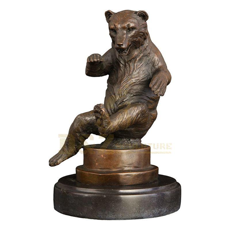 Factory Price Manufacturer Supplier Bronze Bear Statue
