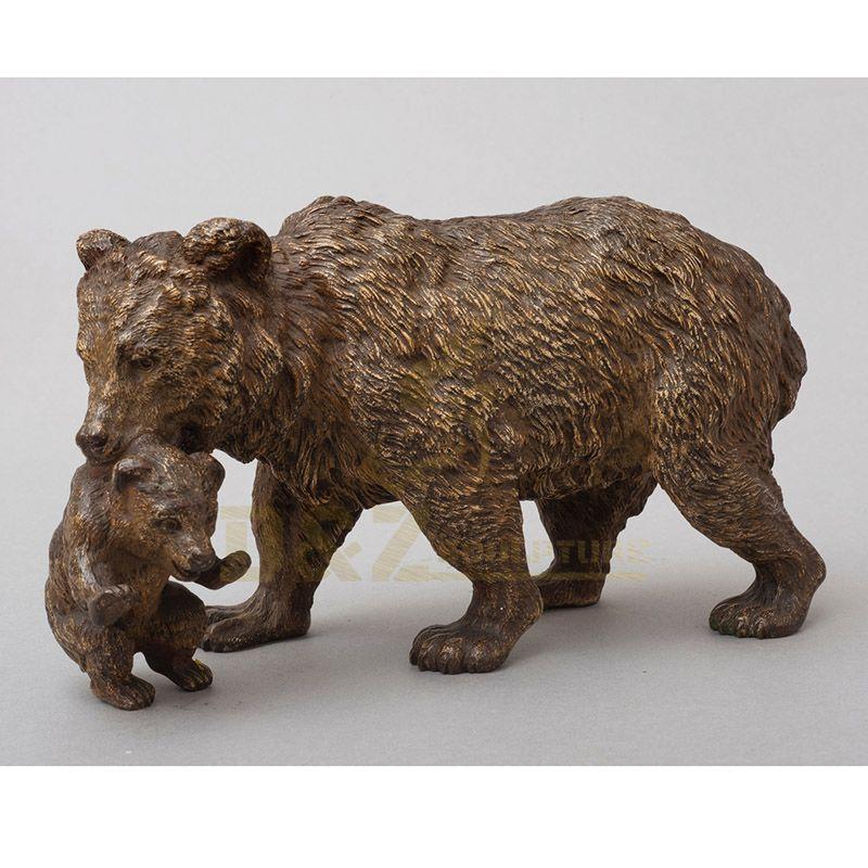 Outdoor Life Size Bronze Animal Sculpture Bear Statue