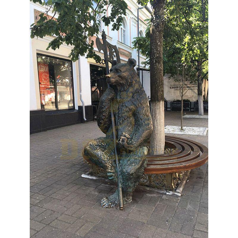 Shopping Mall Decoration Bronze Bear Sculpture