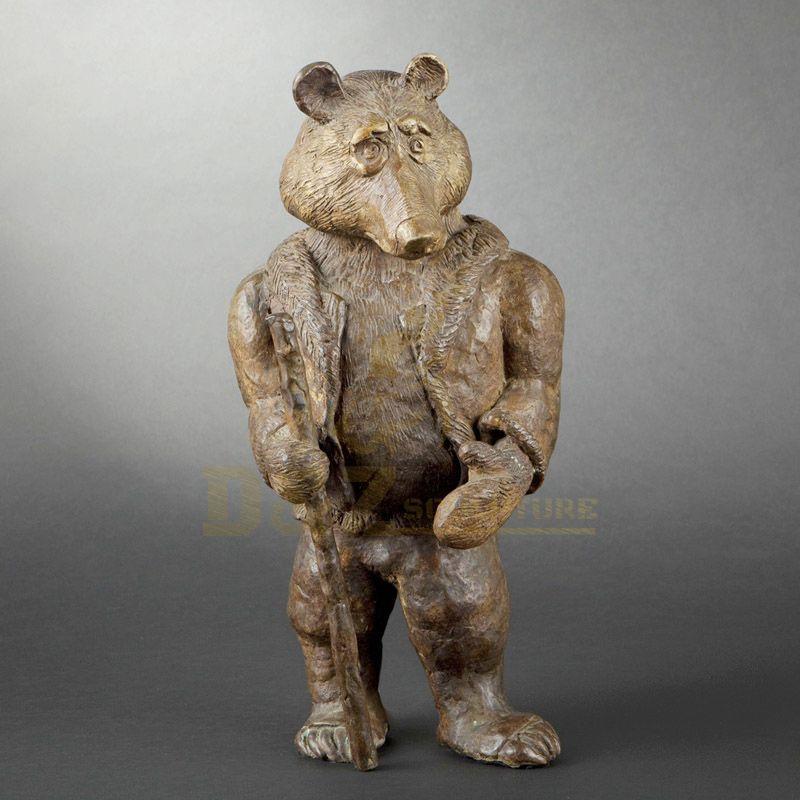 Outdoor Decoration Brass Bear Sculpture