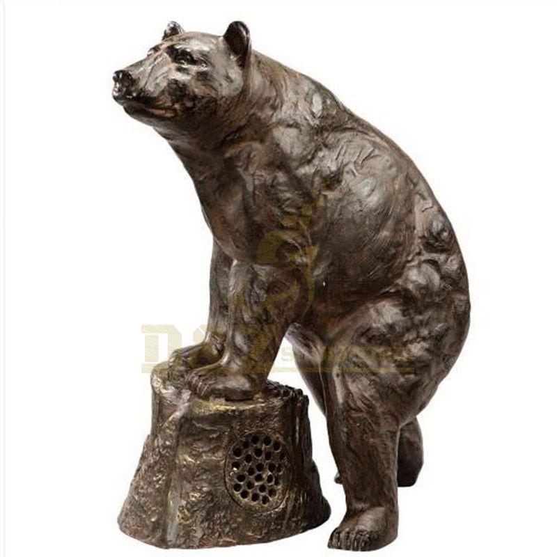 Outdoor Standing Bronze Bear Sculpture