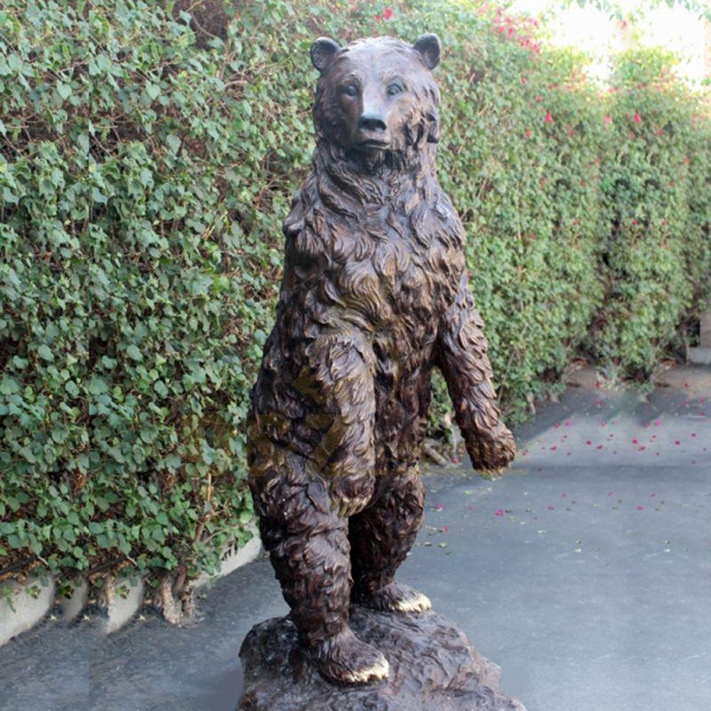 Manufactory Wholesale brass bronze polar bear statue sculpture