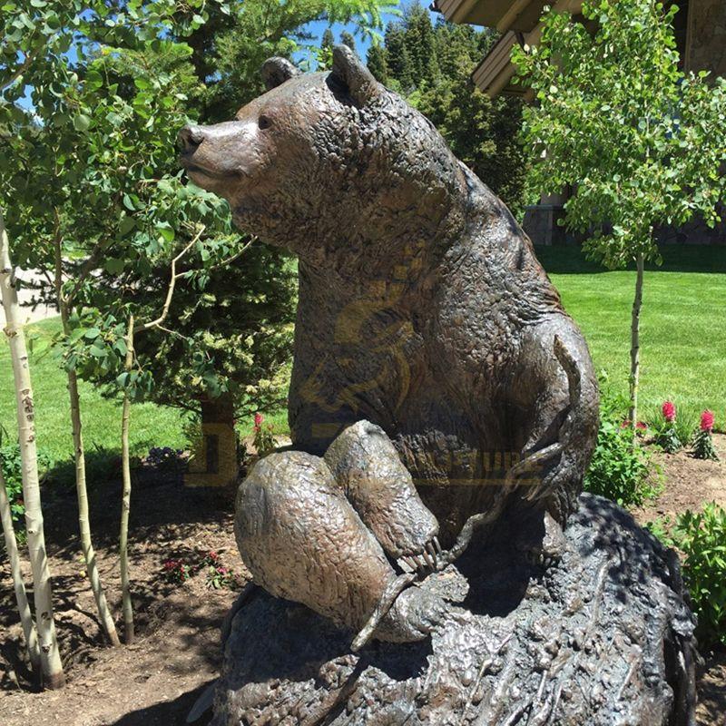 Factory Direct Sale Cast Life Size Bronze Bear Animal Statue