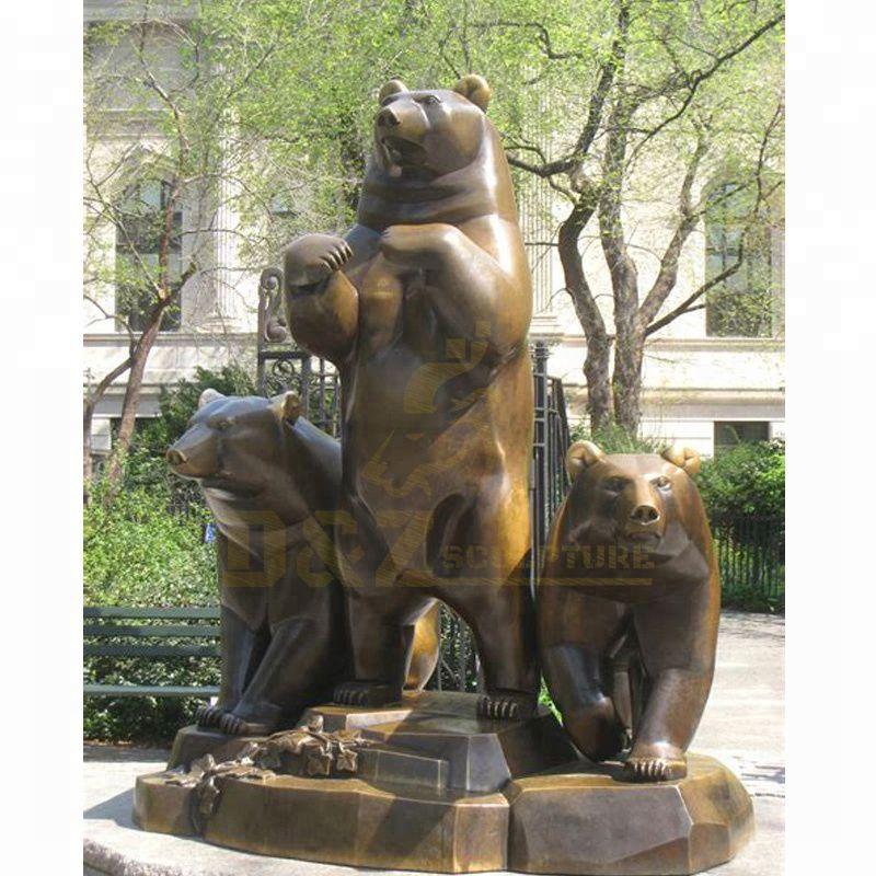 Animal Sculpture Bronze Bear Statues For Garden Decoration