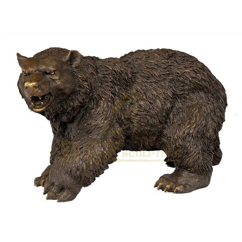 Garden Decorative Outdoor Life Size Bronze Bear Sculpture