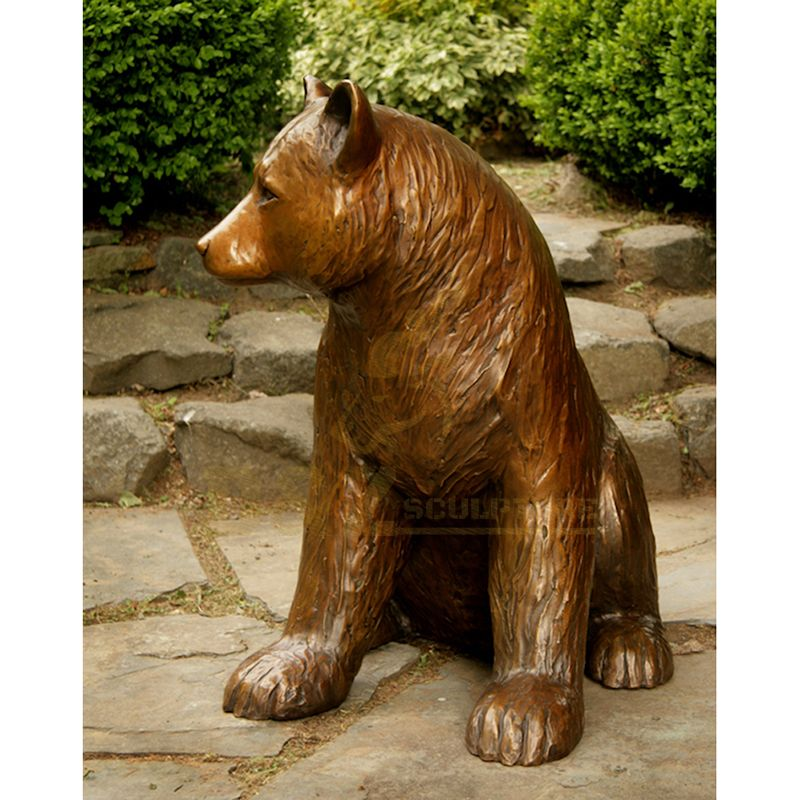 Customized Decorative Garden Cast Bronze Bears Sculpture