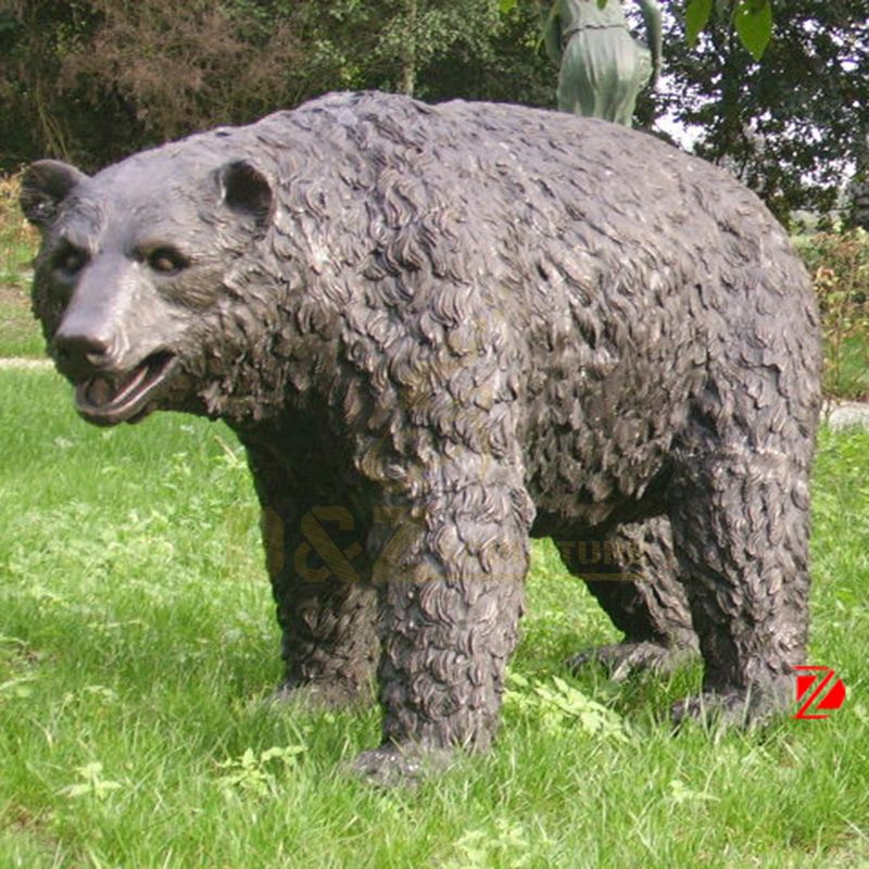 Life Size Bronze Bear Garden Statue Large Metal Casting Wildlife Sculpture