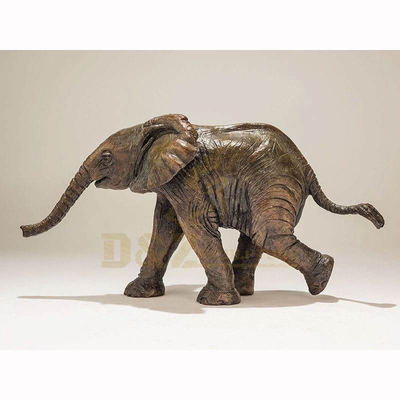 Metal elephant statue bronze animal sculpture