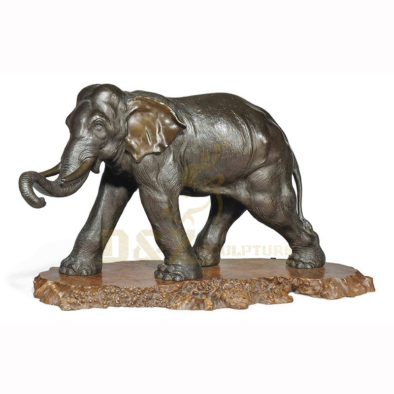 Garden Decorative brass bronze elephant sculpture