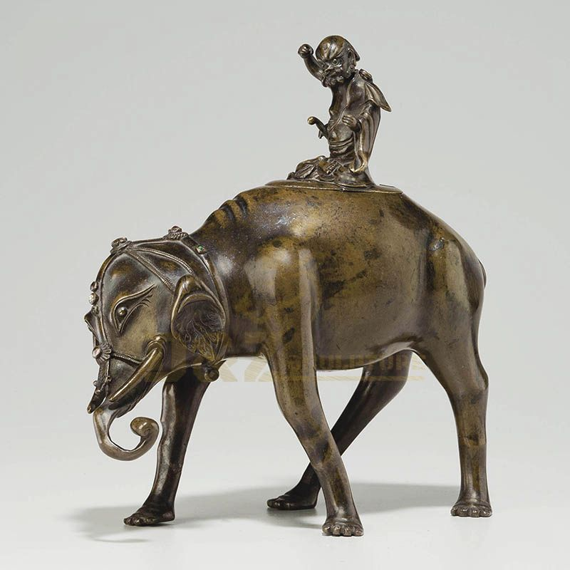 Factory Directly Casting Metal Copper Animal Sculpture Bronze Antique Elephant Statue
