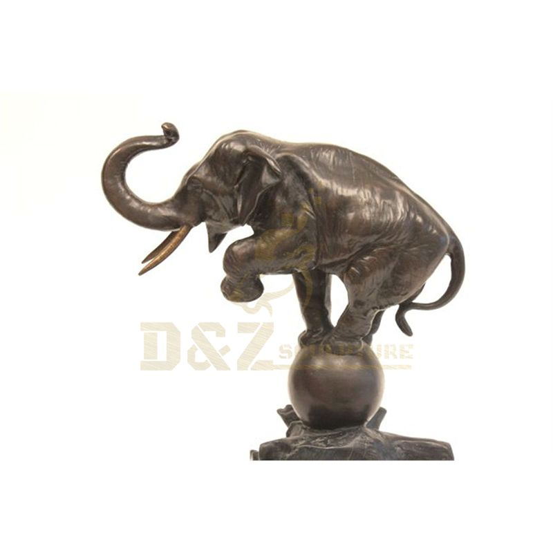 Home Decor Metal Ornament Bronze Animal Elephant Statue