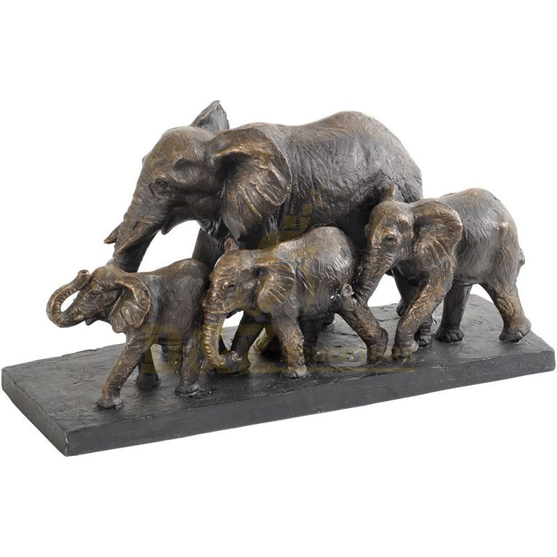 Large Outdoor Customized Bronze Elephant Family Sculpture